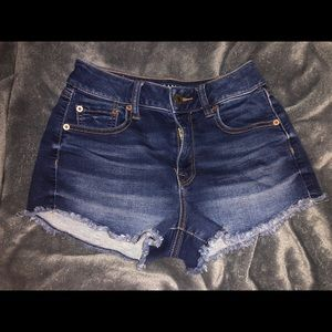 high rise american eagle jean shorts size 2